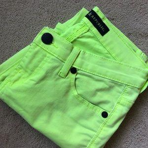 Like new, neon skinny jeans